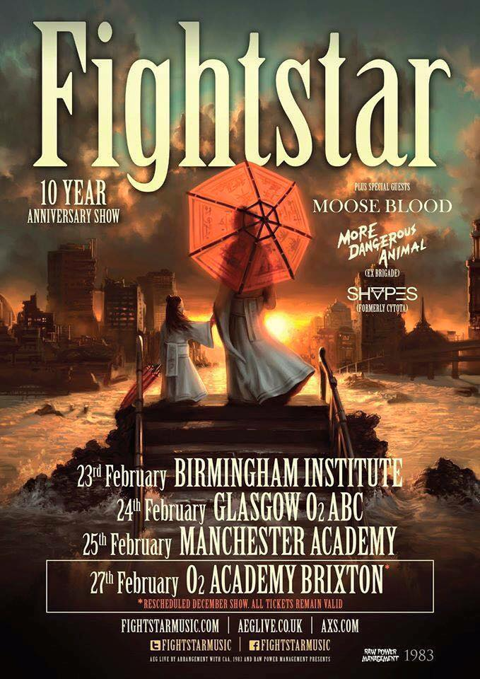 Fightstar + Moose Blood @ O2 Academy � Brixton | Noise Cannon